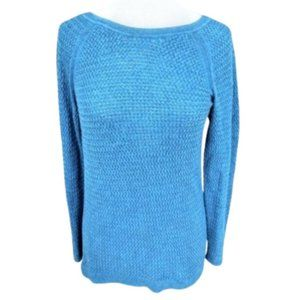 Sonoma Teal Woven Knit Comfy Pullover Sweater